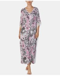 Ellen Tracy - Printed Long Caftan - Lyst