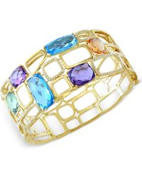 Effy Collection - Multistone (29 Ct. T.w.) And Diamond (1/2 Ct. T.w.) Bangle Bracelet In 14k Gold - Lyst