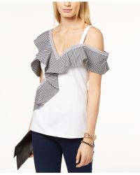 INC International Concepts - Asymmetrical Cold-shoulder Top, Created For Macy's - Lyst
