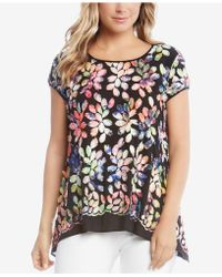 Karen Kane - Embroidered Top - Lyst