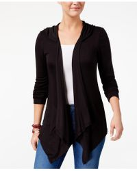 Style & Co. - Hooded Draped Cardigan - Lyst