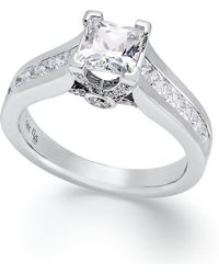 Macy's - Certified Princess-cut Diamond Engagement Ring In 14k White Gold (1-1/2 Ct. T.w.) - Lyst