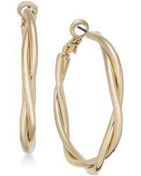 Charter Club - Gold-tone Double Twist Hoop Earrings, Created For Macy's - Lyst