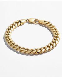 Macy's - Cuban Chain Link Bracelet In 14k Gold - Lyst