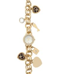 Style & Co. | . Women's Gold-tone Iron Charm Bracelet Watch 24mm Sy019g - Only At Macy's | Lyst