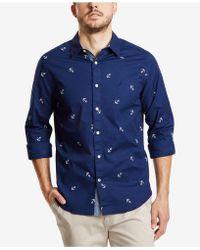Nautica - Mini Anchor-print Shirt - Lyst