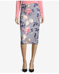 Eci - Embroidered Pencil Skirt - Lyst