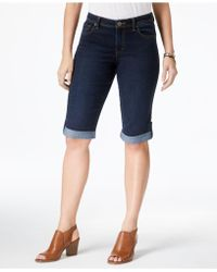 Style & Co. - Cuffed Skimmer Jeans, Light Blue Wash - Lyst