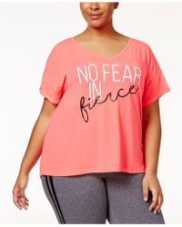 Material Girl - Plus Size Strappy-back T-shirt - Lyst