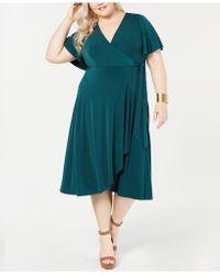 2e5574c0fc6 Lyst - Soprano Plus Size Strapless Tie Dyed Maxi Dress in White