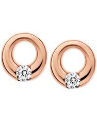 Skagen   Elin Rose Gold-tone Circle Stud Earrings   Lyst