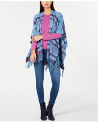 Echo - Lofty Plaid Poncho, Created For Macy's - Lyst