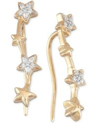 Wrapped in Love - Diamond Multi Star Ear Crawlers (1/10 Ct. T.w.) In 10k Gold - Lyst