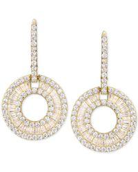 Macy's - Cubic Zirconia Circle Drop Earrings - Lyst