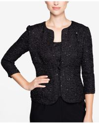 Alex Evenings - Sequined Jacket & Shell - Lyst