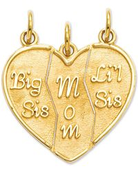 Macy's - 14k Gold Charm, Break Apart Big Sis, Mom And Lil Sis Charm - Lyst