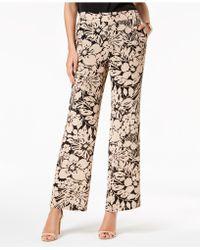 Nine West - Printed Wide-leg Pants - Lyst