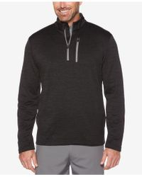PGA TOUR - Men's Heathered Quarter-zip Sweater - Lyst