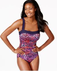 INC International Concepts - Printed One-piece Swimsuit, Only At Macy's - Lyst