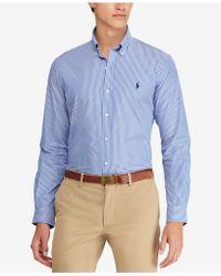 Polo Ralph Lauren - Classic-fit Striped Cotton Shirt - Lyst