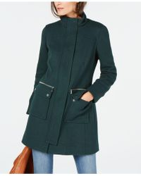 INC International Concepts - Collared Cocoon Coat - Lyst
