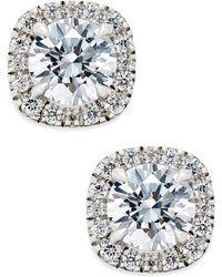 Macy's - Certified Diamond Halo Stud Earrings (1-1/2 Ct. T.w.) In 18k White Gold - Lyst