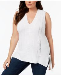525 America - Plus Size Sleeveless Tunic Sweater, Created For Macy's - Lyst