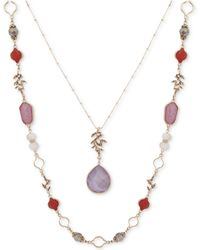 "Lonna & Lilly - Gold-tone Stone & Bead 34"" 2-in-1 Necklace - Lyst"