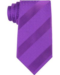 Sean John - Diagonal Stripe Unsolid Solid Silk Tie - Lyst