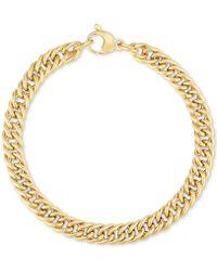 Macy's - Fancy Link Wide Bracelet In 14k Gold - Lyst