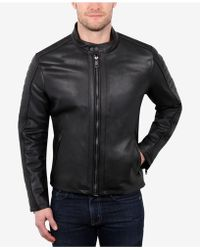 William Rast - Men's Leather Varsity Jacket - Lyst