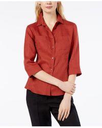 Weekend by Maxmara - Foster Linen Shirt - Lyst 09a74348bd8