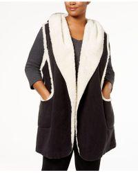 Hue - Plus Size Sleeveless Hooded Robe - Lyst