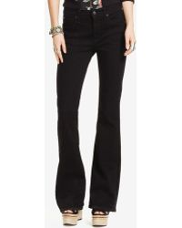 Denim & Supply Ralph Lauren - Reiser High-rise Flared Black Wash Jeans - Lyst