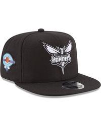 e40e0482039 Lyst - Ktz Charlotte Hornets Stamp 9fifty Snapback Cap in Black for Men