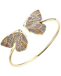 Noir Jewelry - Multi-colored Stone Butterfly Cuff - Lyst