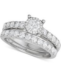 Macy's - Diamond Bridal Set (1-1/2 Ct. T.w.) In 14k White Gold - Lyst