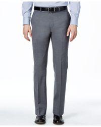 Lauren by Ralph Lauren - Medium Gray Solid Total Stretch Slim-fit Pants - Lyst