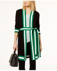 INC International Concepts - Belted Contrast-trim Open Cardigan, Created For Macy's - Lyst