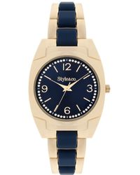 Style & Co. - Women's Gold-tone And Blue Stainless Steel Bracelet Watch 36mm Sy055gn, Only At Macy's - Lyst