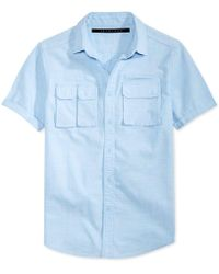 Sean John - Men's Multi-pocket Cotton Shirt - Lyst