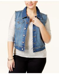 American Rag - Plus Size Denim Vest, Only At Macy's - Lyst