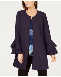 Alfani - Petite Flared-sleeve Collarless Jacket, Created For Macy's - Lyst