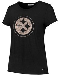 47 Brand - Pittsburgh Steelers Letter Crew T-shirt - Lyst