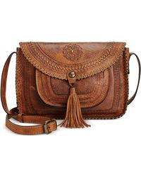Patricia Nash - Beaumont Vintage Distressed Leather Flap Crossbody - Lyst