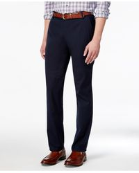 Vince Camuto - Men's Navy Seersucker Stripe Slim-fit Stretch Cotton Trousers - Lyst