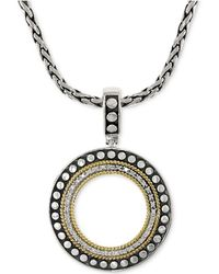 Effy Collection - Diamond Circle Pendant Necklace (1/6 Ct. T.w.) In 18k Gold And Sterling Silver - Lyst