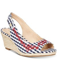 Charter Club - Samiee Slingback Espadrille Wedge Sandals, Created For Macy's - Lyst