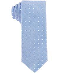 Con.struct - Con.struct Men's Blue Oxford Dot Slim Tie - Lyst