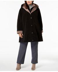 Jones New York - Plus Size Colorblock Hooded Raincoat - Lyst